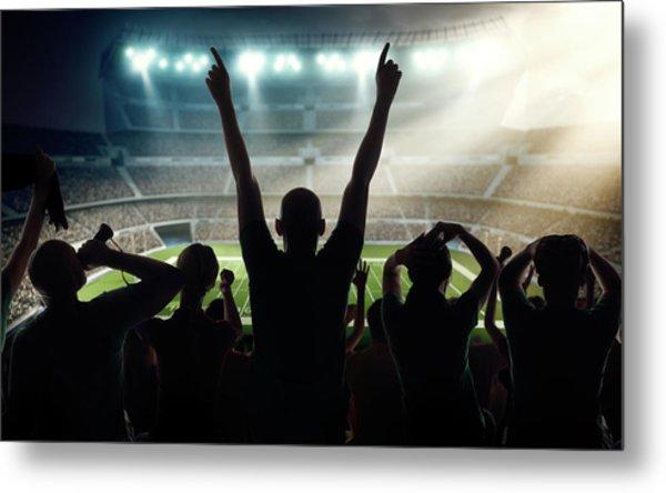 American Football Fans At Stadium Metal Print by Dmytro Aksonov