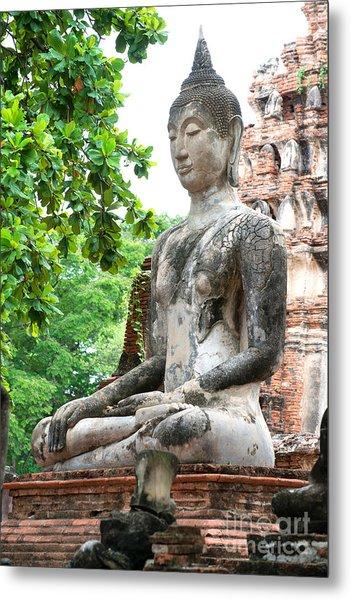 Buddha Statue Metal Print