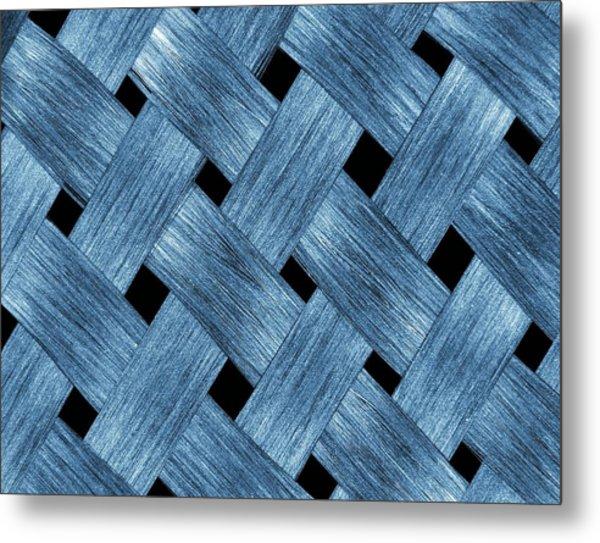 Carbon Fibre Fabric Metal Print by Alfred Pasieka
