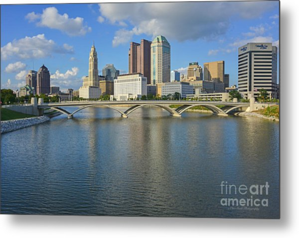 Fx1l-802 Columbus Ohio Skyline Photo Metal Print