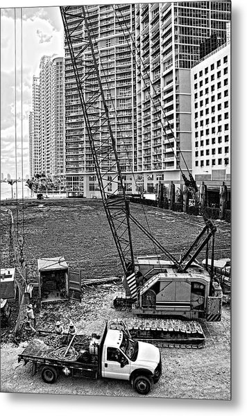 Construction Site-2 Metal Print