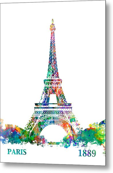 Eiffel Tower Paris France 1889 Metal Print