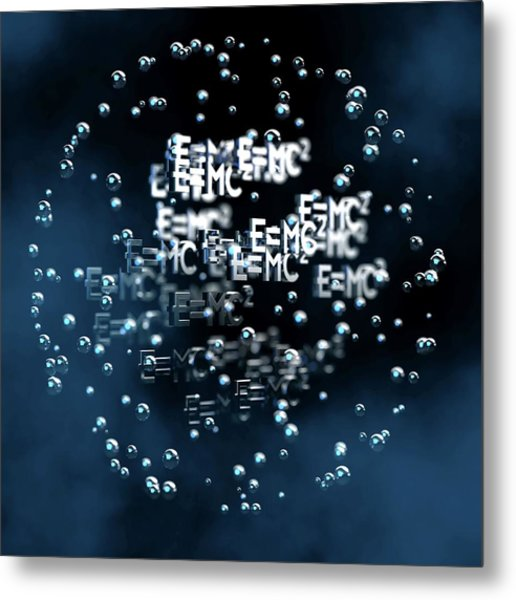 Einstein's Mass-energy Equation Metal Print by Ventris / Science Photo Library
