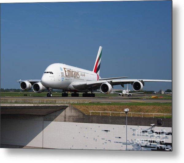 Emirates Airbus A380 Metal Print