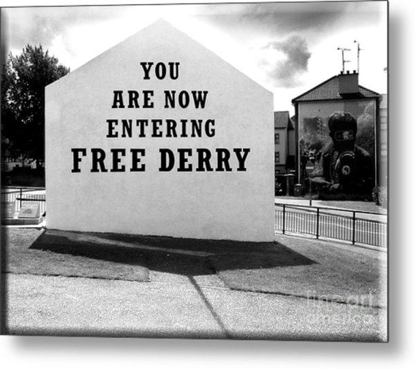 Free Derry Corner 5 Metal Print