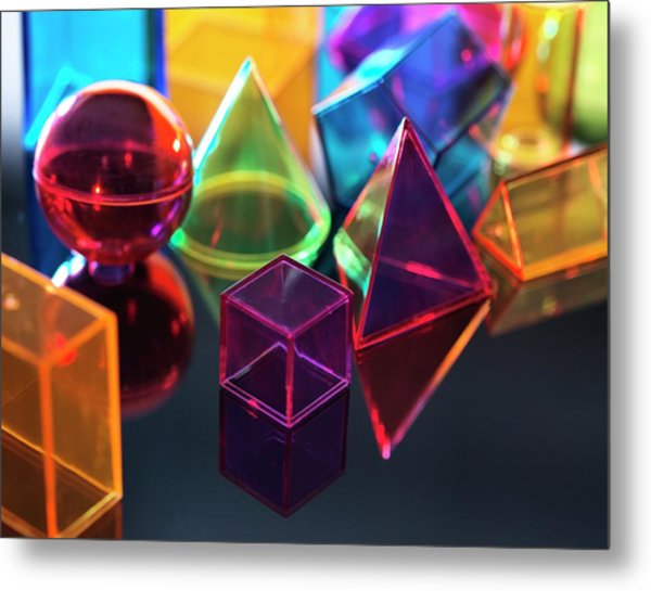 Geometric Shapes Metal Print by Tek Image