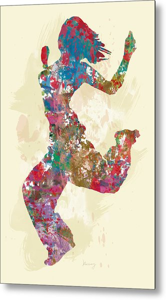 Hip Hop Street Dancing  Pop Stylised Art Poster Metal Print