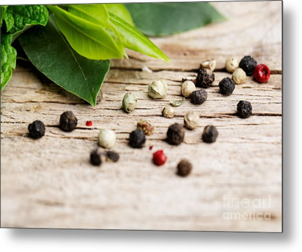 Kitchen Herbs Metal Print
