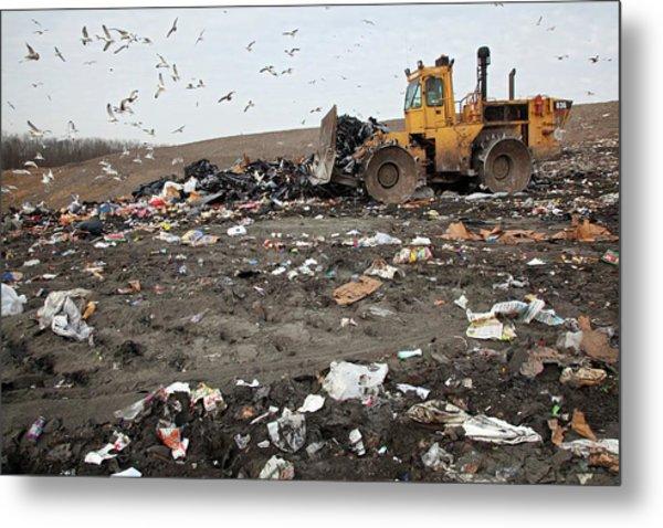 Landfill Site Metal Print by Jim West