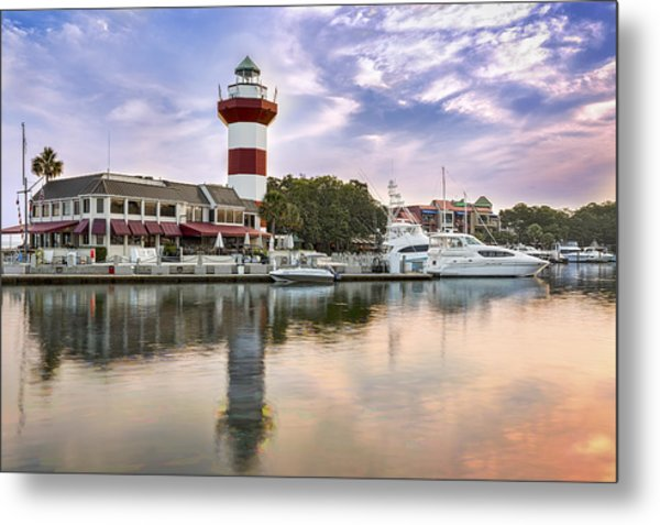 Lighthouse On Hilton Head Island Metal Print