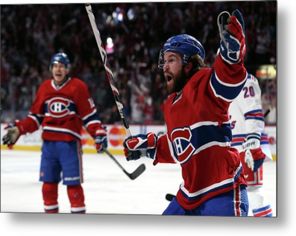 New York Rangers V Montreal Canadiens - Metal Print