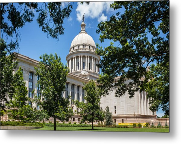 Oklahoma State Capital Metal Print