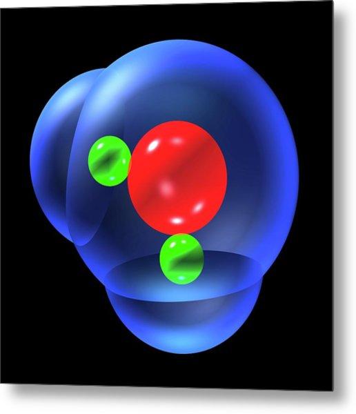 Water Molecule Metal Print by Russell Kightley