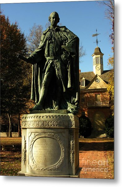 William And Mary College With Wren Building Metal Print