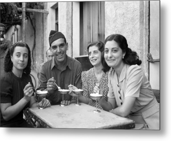 Wwii Sicily, 1943 Metal Print by Granger