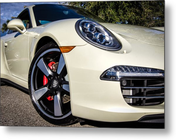 50th Anniversary Porsche 911 Metal Print
