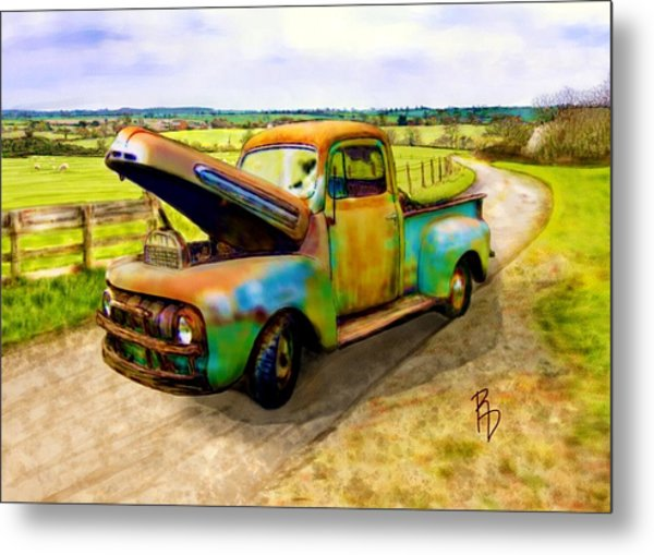 52 Ford F3 Pick-up Truck Metal Print