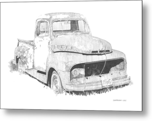 '53 Ford Metal Print by Paul Shafranski