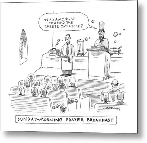 New Yorker November 24th, 2008 Metal Print
