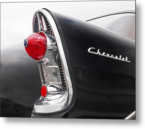 56 Chevy Rear Lights Metal Print