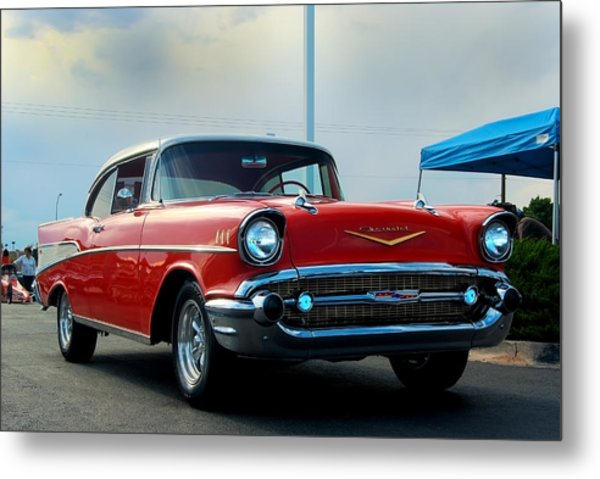 57 Chevy Bel-aire Metal Print by Don Durante Jr