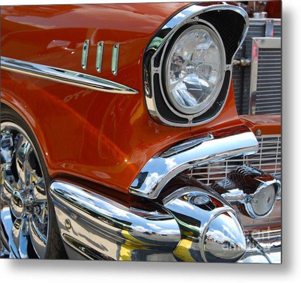 '57 Chevy Closeup Metal Print