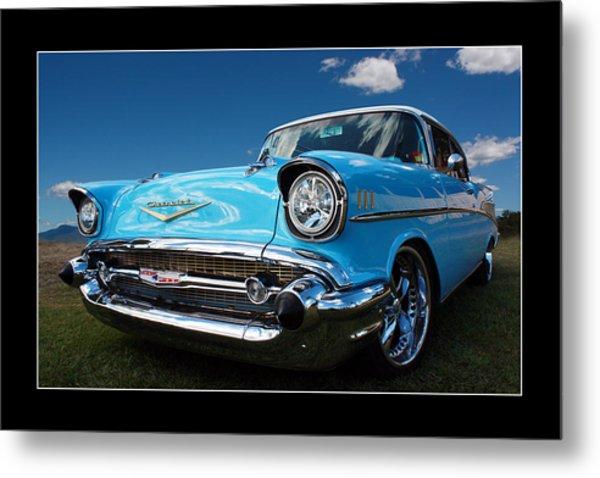 57 Chevy Sedan Metal Print by Keith Hawley