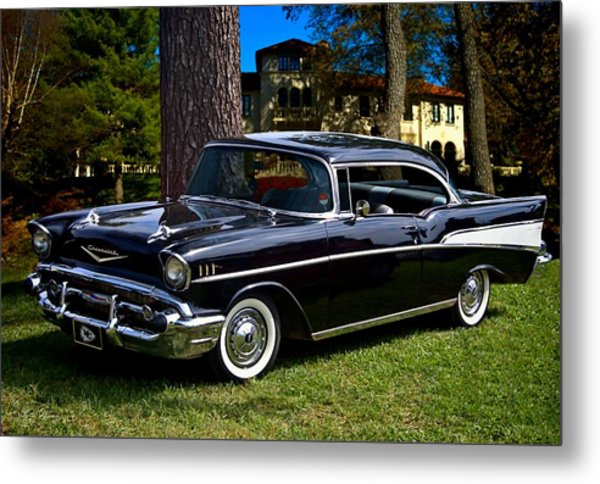 Metal Print featuring the photograph 57 Chevy  by Tim McCullough