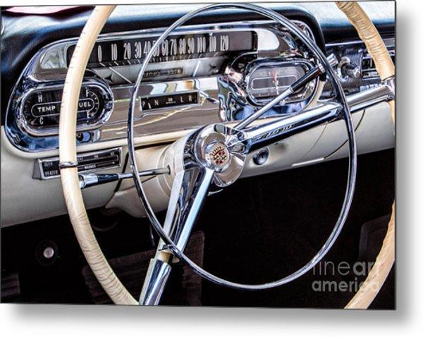58 Cadillac Dashboard Metal Print