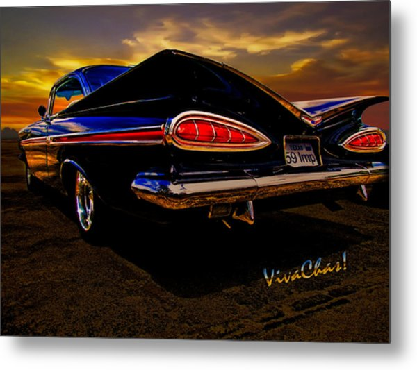 59 Chevy Impala Hardtop Metal Print