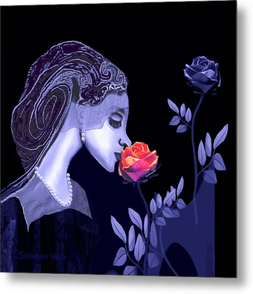 590 Flavour Of The Rose Metal Print by Irmgard Schoendorf Welch