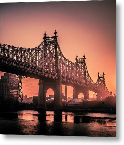 59th St Bridge Sunrise Metal Print