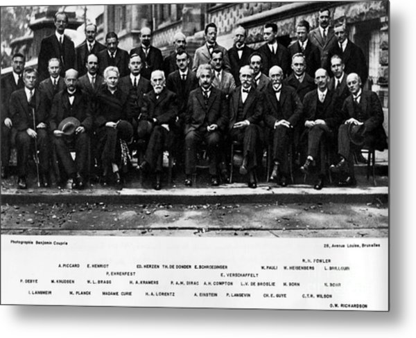 5th Solvay Conference Of 1927 Metal Print