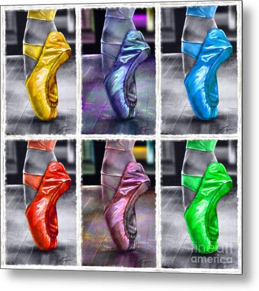 6 Ballerinas Dancing Metal Print