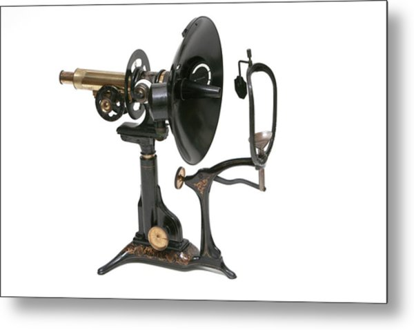 Early 20th Century Ophthalmoscopy Tool Metal Print by Mark Thomas/science Photo Library