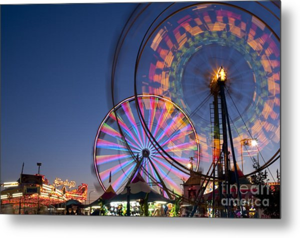 Evergreen State Fair With Ferris Wheel Metal Print