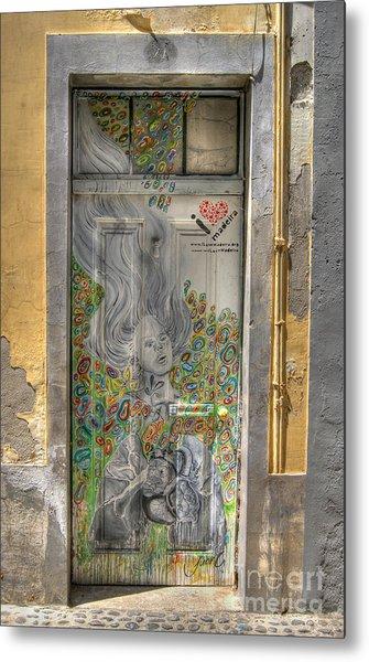 Funchal Door Art  11 Metal Print