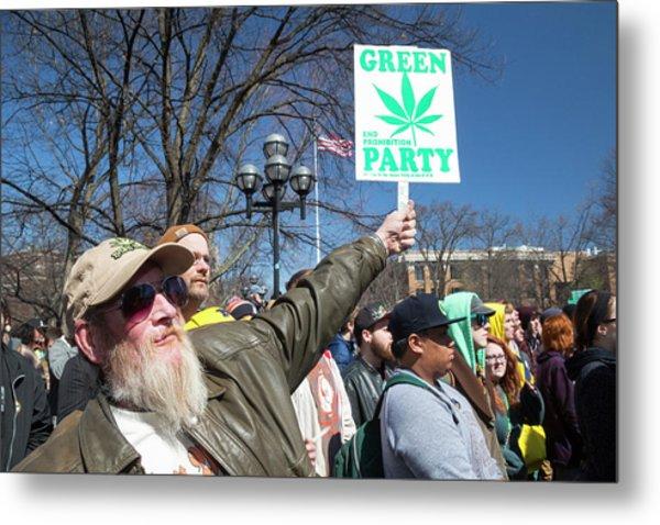 Legalisation Of Marijuana Rally Metal Print