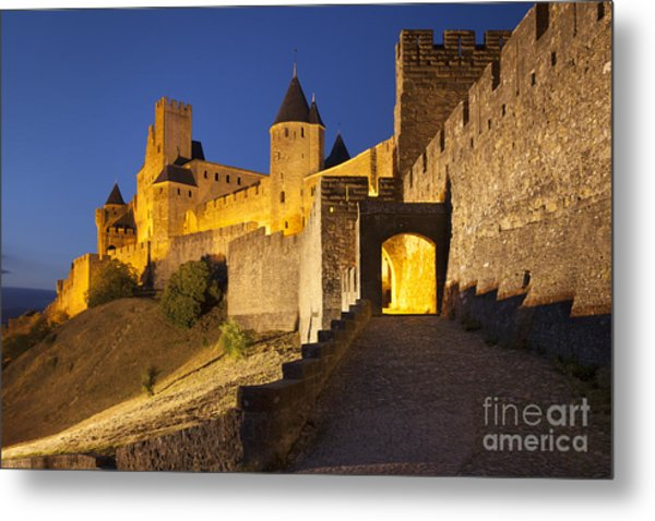 Metal Print featuring the photograph Medieval Carcassonne by Brian Jannsen