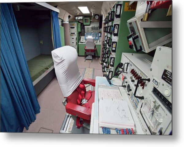 Minuteman Missile Control Room Metal Print by Jim West