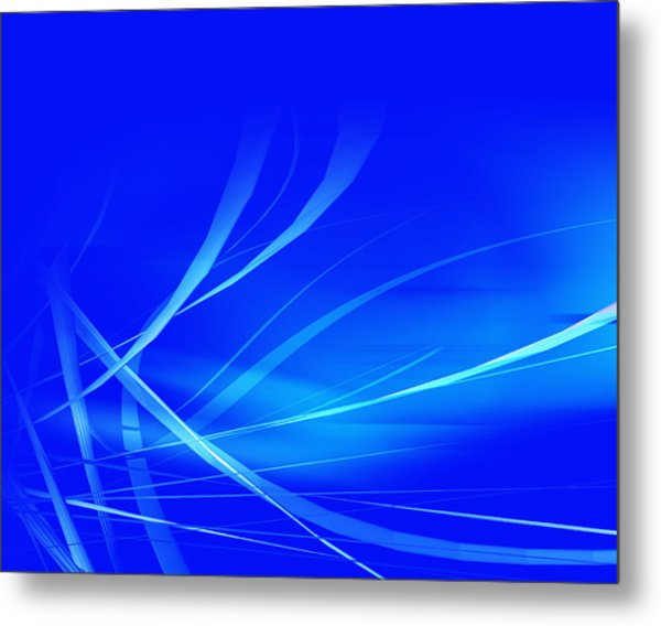 Modern Blue Abstract Metal Print