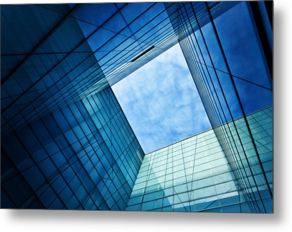 Modern Glass Architecture Metal Print by Nikada