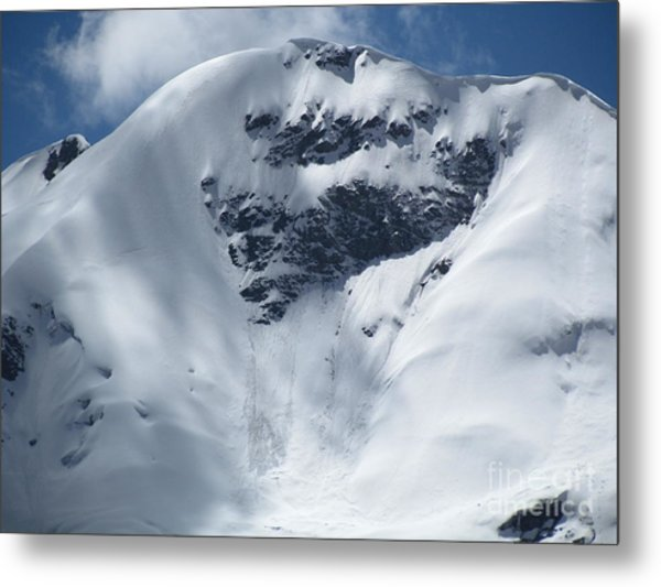 Peru Mountain Snow Metal Print