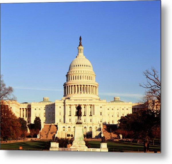 Usa, Washington Dc, Capitol Building Metal Print by Walter Bibikow