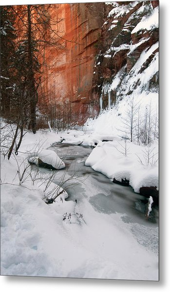 16x20 Canvas - West Fork Snow Metal Print