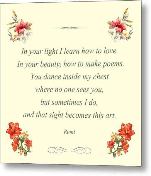 60- Rumi Metal Print