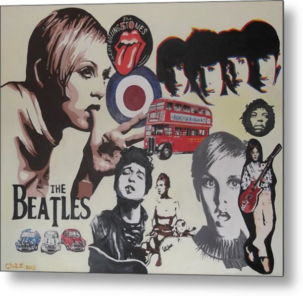 60's Montage Metal Print by Cherise Foster