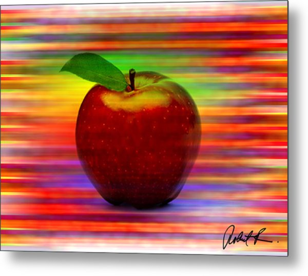 60x45 Print Or Canvas Wrap The Apple By Robert R Signed Prints Metal Print