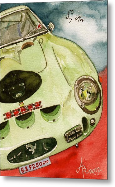 62 Ferrari 250 Gto Signed By Sir Stirling Moss Metal Print