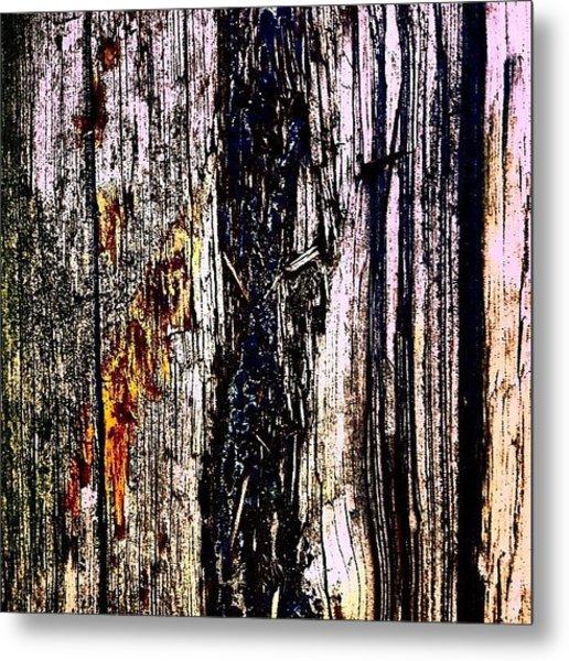 Wooden Post 2 Metal Print